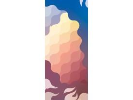 Deursticker Muursticker Modern | Geel, Blauw | 91x211cm
