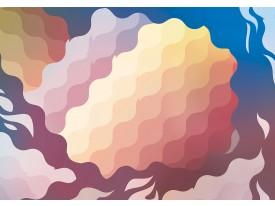Fotobehang Vlies | Abstract | Geel, Blauw | 368x254cm (bxh)