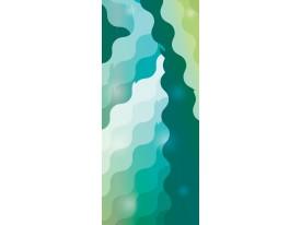 Deursticker Muursticker Modern | Groen, Turquoise | 91x211cm