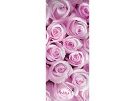 Deursticker Muursticker Rozen, Blomen | Roze | 91x211cm