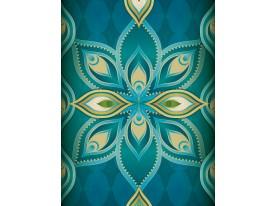 Fotobehang Abstract   Turquoise   206x275cm