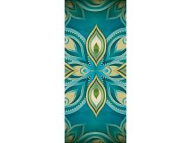 Fotobehang Abstract   Turquoise   91x211cm