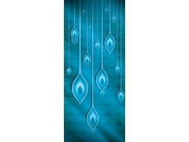 Deursticker Muursticker Modern | Blauw | 91x211cm