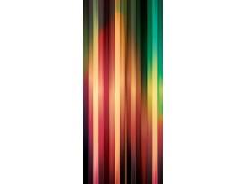 Deursticker Muursticker Modern | Rood, Geel | 91x211cm