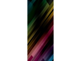 Deursticker Muursticker Modern, Strepen | Zwart | 91x211cm