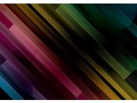 Fotobehang Vlies | Abstract | Zwart, Groen | 368x254cm (bxh)