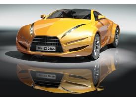 Fotobehang Vlies   Auto   Geel, Grijs   368x254cm (bxh)