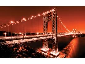 Fotobehang Vlies | Brug | Oranje | 368x254cm (bxh)