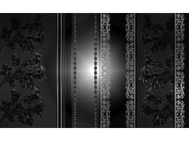 Fotobehang Papier Bloemen | Zwart, Grijs | 368x254cm