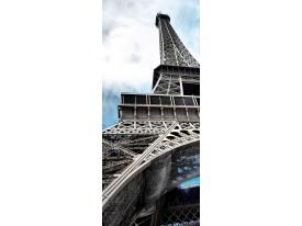Deursticker Muursticker Eiffeltoren, Parijs | Grijs | 91x211cm