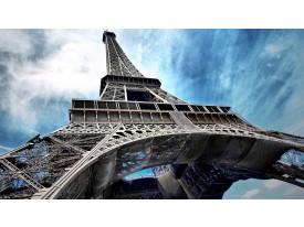Fotobehang Eiffeltoren   Grijs, Blauw   152,5x104cm