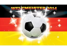 Fotobehang Voetbal | Geel, Zwart | 104x70,5cm