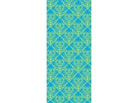 Deursticker Muursticker Klassiek | Blauw, Groen | 91x211cm