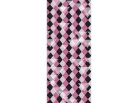 Deursticker Muursticker Ruiten | Roze, Paars | 91x211cm