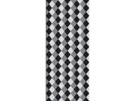 Deursticker Muursticker Ruiten | Zwart, Grijs | 91x211cm