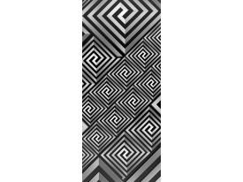 Deursticker Muursticker 3D | Zwart, Wit | 91x211cm