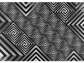 Fotobehang Vlies | Abstract | Grijs, Zwart | 368x254cm (bxh)
