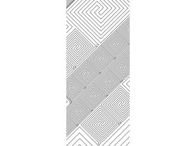 Deursticker Muursticker Modern | Wit | 91x211cm