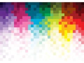 Fotobehang Vlies | Abstract | Roze, Geel | 368x254cm (bxh)