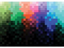 Fotobehang Vlies | Abstract | Zwart, Blauw | 368x254cm (bxh)