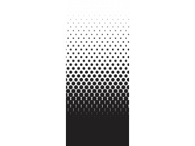 Fotobehang Abstract | Zwart, Wit | 91x211cm