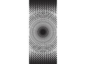 Deursticker Muursticker Modern | Zwart, Wit | 91x211cm