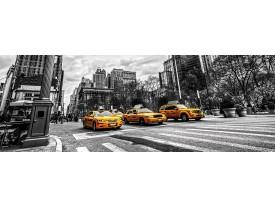 Fotobehang Vlies New York | Geel, Zwart | GROOT 624x219cm