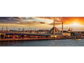 Fotobehang Vlies Stad | Oranje | GROOT 832x254cm