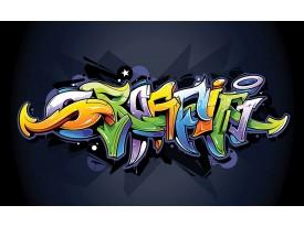 Fotobehang Graffiti | Zwart, Groen | 416x254