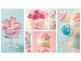 Fotobehang Snoepjes | Turquoise, Roze | 208x146cm