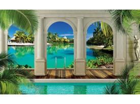 Fotobehang Natuur, Zee | Turquoise | 104x70,5cm