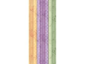 Deursticker Muursticker Hout | Paars, Groen | 91x211cm