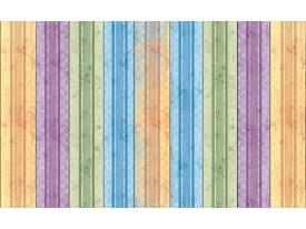 Fotobehang Vlies | Hout | Paars, Groen | 368x254cm (bxh)