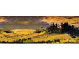 Fotobehang Vlies Natuur | Groen, Geel | GROOT 624x219cm