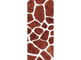 Deursticker Muursticker Dieren | Bruin, Wit | 91x211cm
