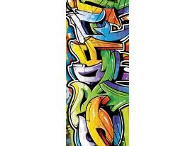 Fotobehang Graffiti   Oranje   91x211cm
