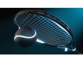 Fotobehang Papier Tennis | Blauw | 254x184cm