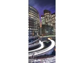 Fotobehang Stad | Paars | 91x211cm