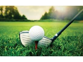 Fotobehang Papier Golf | Groen, Wit | 254x184cm