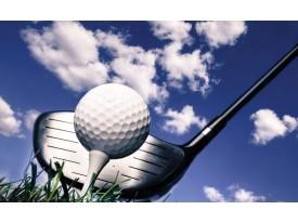 Fotobehang Golf | Blauw, Wit | 312x219cm