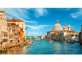 Fotobehang Venetië | Blauw, Bruin | 104x70,5cm