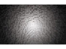 Fotobehang 3D | Grijs, Zwart | 208x146cm