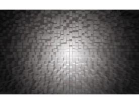 Fotobehang Vlies | 3D | Grijs, Zwart | 368x254cm (bxh)