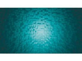 Fotobehang 3D | Turquoise | 312x219cm
