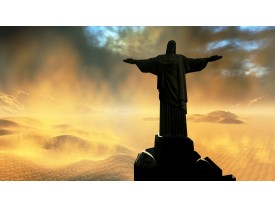 Fotobehang Papier Jezus, Brazilië | Zwart | 254x184cm
