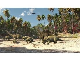 Fotobehang Papier Jungle, Dinosaurussen | Groen | 368x254cm