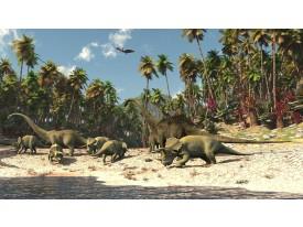 Fotobehang Vlies | Jungle, Dinosaurussen | Groen | 368x254cm (bxh)