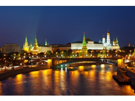 Fotobehang Vlies   Moscow, Stad   Oranje   368x254cm (bxh)