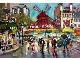 Fotobehang Moulin Rouge | Grijs | 208x146cm