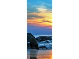 Deursticker Muursticker Zee | Blauw | 91x211cm